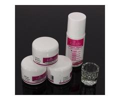 5 PCS Acrylic Powder Adhesion Liquid Glass Cup Nail Art Builder Set