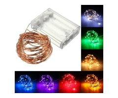 5M 50 LED Copper Wire Fairy String Light Battery Powered Waterproof for Party Decor