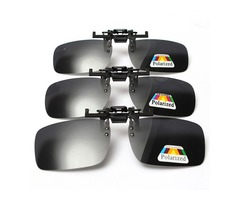 Polarized  Clip On Sunglasses Glasses Lens