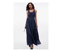 Sleeveless Ankle-Length Womens Maxi Dress