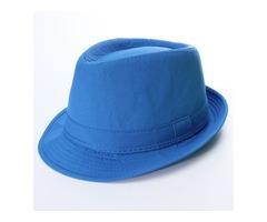 Men Jazz Neon Panama Fedora Trilby Cowboy Cap Sun Beach Hat