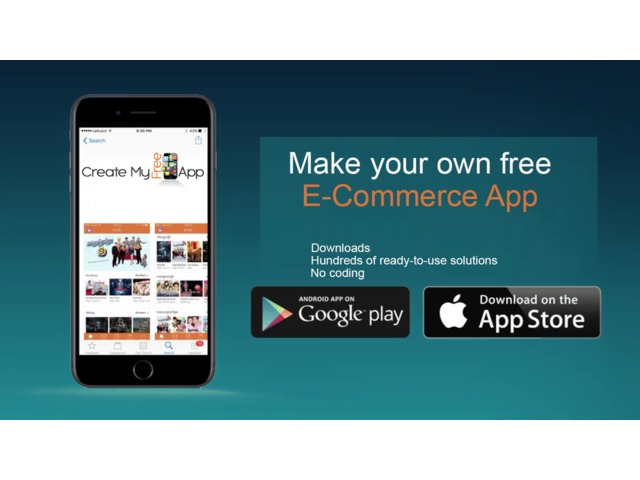 Free ecommerce mobile app builder from createmyfreeapp