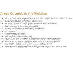 Artificial Intelligence and Human Resources - Plan for Action Webinar