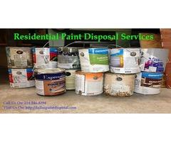 Residential Paint Disposal Dallas, Tx | Dallas Paint Disposal