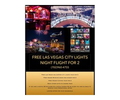 Free Las Vegas City Lights – Night Flight for 2