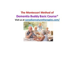 MONTESSORI DEMENTIA BUDDY BASIC ONLINE TRAINING COURSE