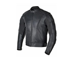 Men Premium Leather Motorcycle Jacket Old School Classic Style Black MBJ07