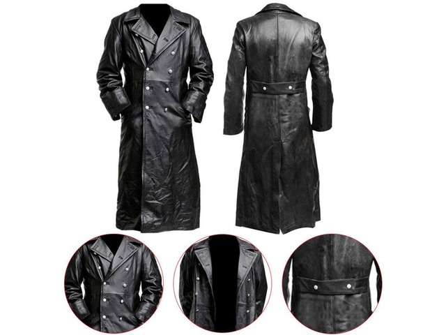 German Classic Officer Leather Coat | free-classifieds-usa.com