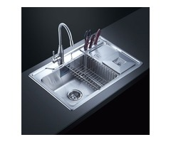 Housewife'S Private Stainless Steel Kitchen Sink Cleaning Coup