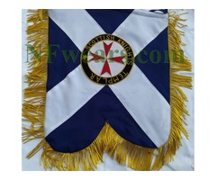 Hand Embroidered Custom Made Banner - Scottish Knight Templar