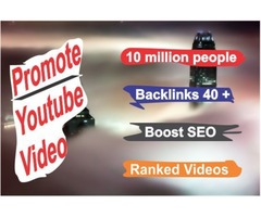 I Will Do Your Youtube Video Promotion