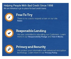 Bad Credit ?  We are Here to Help !