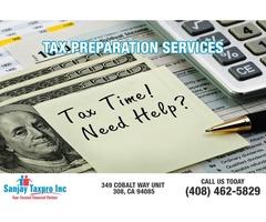 Personal tax preparation service San jose | Tax preparation services sunnyvale