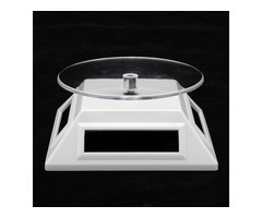 New Solar Rotating Display Stand Turntable Plate