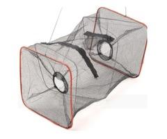 ZANLURE Foldable Zips-One Crab Minnow Crawdad Shrimp Fishing Trap Cast Net