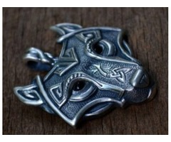 Nordic Wolf Pendant Necklace at Best Price