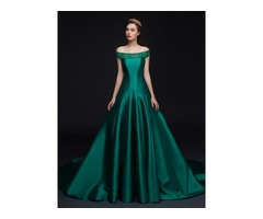 Off the Shoulder Pearls Lace Bowknot Evening Dress