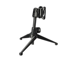 Adjustable Metal Desktop Table Microphone Clamp Clip Stand Tripod