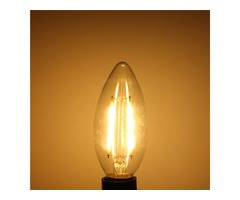 E14 2W White/Warm White Non-Dimmable COB LED Filament Retro Edison Candle Bulbs 220V