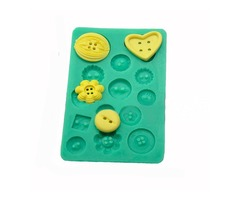 Button Silicone Press Mold Cake Decoration Mould Fondant Cake Tools