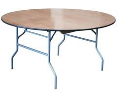 "48"" ROUND PLYWOOD FOLDING TABLE"