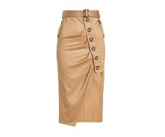 Asymmetrical Mid-Calf Womens Fall Skirt