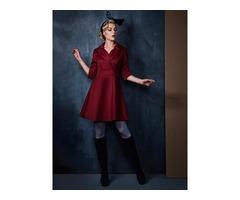 Chic Three Quarter Sleeves Day Dress