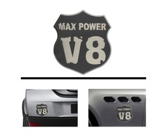 3D Car Metal V8 MAX POWER Emblem Decal Emblem Badge Truck Auto Motor Sticker