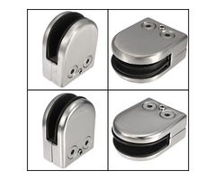 Stainless Steel 304 Glass Clip Clamp Holder Flat for Handrail Window