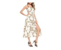 Tidebuy High Waist A-Line Backless Maxi Dress