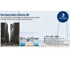 Hard money lenders in Boston, MA