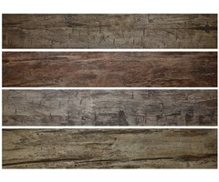 Rustic Faux Wood Wall Planks