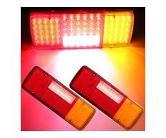 2x 12V 92 LED Caravan Van Trailer Truck Rear Tail Brake Indicator Reverse Lights