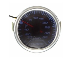 52mm Universal Blue LED Pointer Turbo Boost Gauge Meter PSI Smoke Tint Len