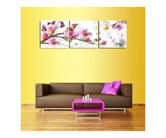 3Pcs Flower Combination Painting Oil Painting Printed On Canvas Home Decorative Paper Art Picture