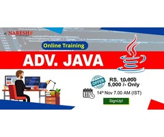 Best Advanced Java Online Training in USA - NareshIT