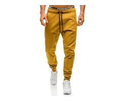 Tidebuy Polyester Lace-up Mens Casual Pants