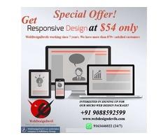 Get Responsive Website Design at $54 only Special Offer!
