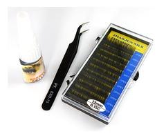 False Silk Lash Black Eyelash Extensions glue Tweezer