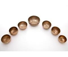 Chakra Healing Tibetan Singing Bowls Set – 7 set of Crystal Singing Bowls Set