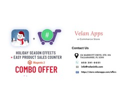 Special Combo Offer | Megento 2 Holiday Seasonal Effects - Velan Apps