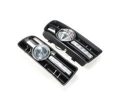 Bumper Grille Grill Driving LED Fog Lights For 97-06 VW GOLF 4 MK4 IV