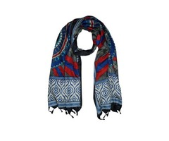 Indian Style Boho Colorful Scarves Shawl Yoga Wear Printed Silk Long Wraps Stole