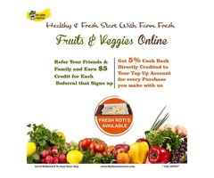 Healthy & Fresh Start With Farm Fresh Fruits & Veggies Online Irving,Texas - MyHomeGrocers