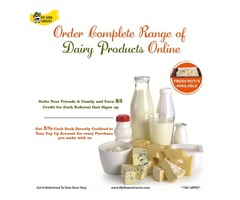 Order Complete Range Of Dairy Products Online Online Wylie,Texas - MyHomeGrocers