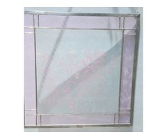Stained Glass & Sandblasted Pink Ice