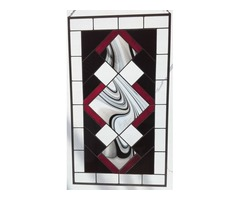 Stained Glass - Red, Black & White