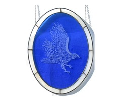 Blue Eagle -  stained glass