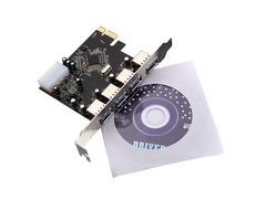 PCI-e PCI Express to 4 Port USB3.0 VLI USB Hub Card Adapter 5Gbps