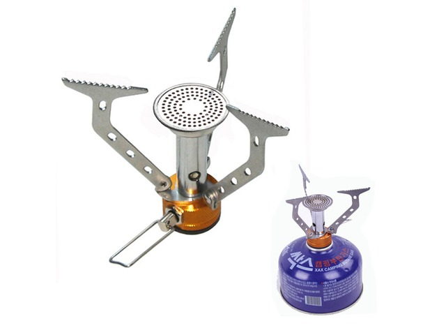 Stainless Steel Camping Picnic Cooking Gas Stove Outdoor Activity   free-classifieds-usa.com